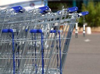 Nahaufnahme Einkaufswagen